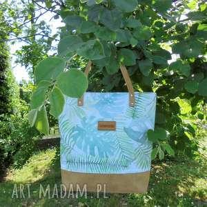 Shopper Bag zielone listki, shopperbag, torbawliście, liscie, modnyshopper
