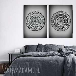 zestaw dwóch prac 50x70cm, plakat, zestaw, plakaty, mandala