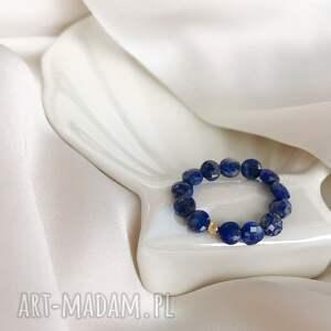 pierścionek - lapis lazuli, kamienie naturalne, biżuteria