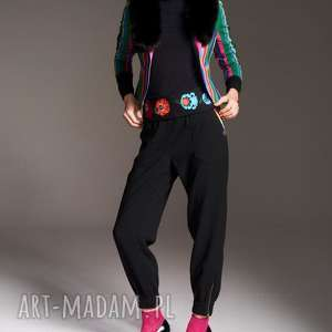 spodnie natalia 7177 rozm xs s m l, z suwakami, na gumkę