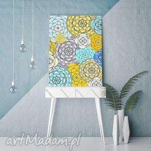 Plakat 50x70cm, kwiaty, kwiatki, abstrakcja, plakat, grafika, dom