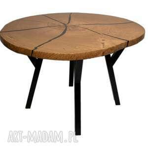 stół, stolik kawowy z dębowego plastra drewna, dąb, żywica, stoliki kawowe