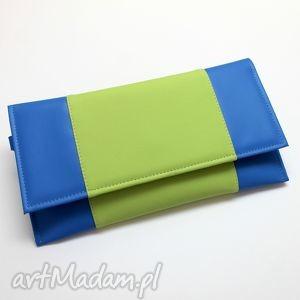 Kopertówka - chaber i środek jasny zielony, kopertówka, elegancka, nowoczesna, wesele