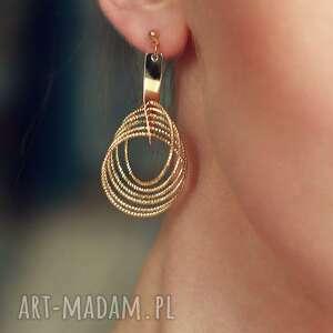 Golden Rings vol2, złote, koła, geometryczne, wiszące, ruchliwe, glamour