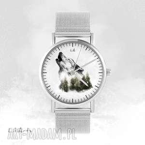 zegarki zegarek, bransoletka - wilk metalowy, bransoletka, metalowa