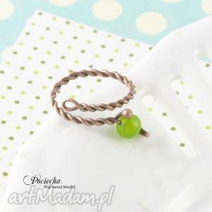 hand-made pierścionki green - pierścionek z jadeitem