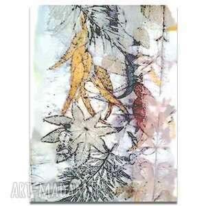 obraz na płótnie kolorowe liście 60x90, liście, nowoczesne, proste
