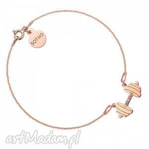 ręcznie robione bransoletka z różowego złota sztanga i can
