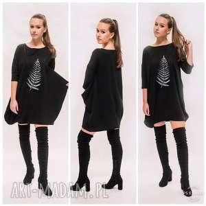 Sukienka z liściem, boho, etno, oryginalna-sukienka, tunika, asymetryczna, dress