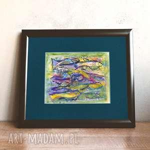 akwarela obraz ręcznie malowany,rybki obraz,woda obraz,morze obraz,ryby