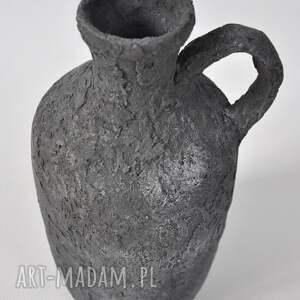 unikalny, wazon archeo - medium, dzban, stary, szary, etno, loft