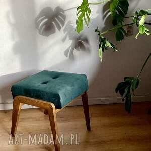 hand-made podnóżek aga zielony