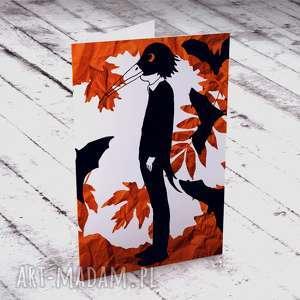 JESIENNA KARTECZKA, halloween, kartka, życzenia, jesień