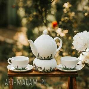 zestaw porcelany do kawy i herbaty kwitnąca łąka, porcelanowa zastawa, imbryk
