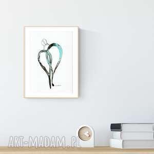 grafika A4 malowana ręcznie, minimalizm, obrazy-ręcznie-malow, grafiki-do-salonu