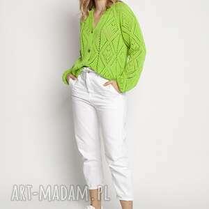 swetry wiosenno-letni sweterek - swe233 jasny zielony mkm, kardigan, sweter