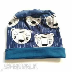 czapki czapka dziecięca bawełniana wiosenna w misie handmade-box l1
