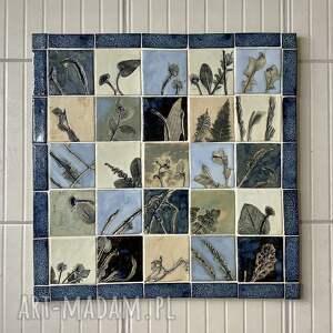 ceramiczny obraz tajemniczy ogród, ceramika dekoracyjna, dekoracja ścienna