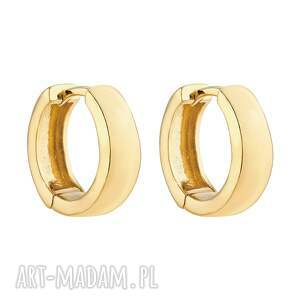 złote kolczyki grube kółka sotho - pozłacane, złoto