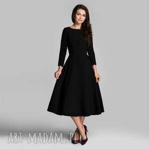 sukienki sukienka klara 3/4 total midi czarna