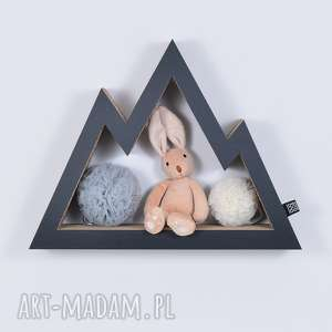 półka na książki zabawki gÓry ecoono czarny - półka
