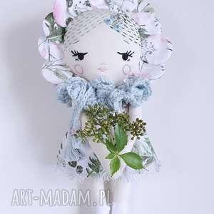lalka różyczka, lalka, haft, dziewczynka, kwiaty, dekoracja, eko