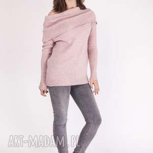 Sweter w stylu hiszpańskim, SWE127 pastelowy róż MKM, sweterek, hiszpański