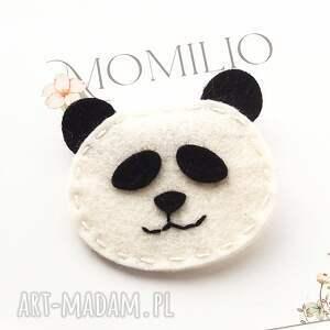 hand-made dla dziecka spinka do włosów z filcu panda