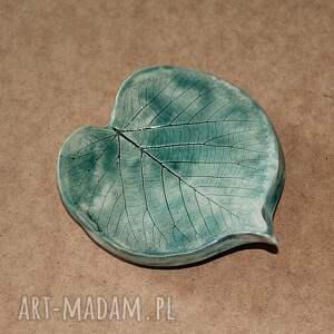 mydelniczka ceramiczna liść, ceramiczna, liść