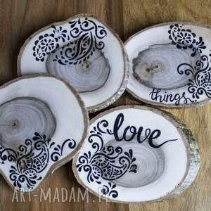 drewniane podkładki - love, kawa, herbata, kuchnia, jadalnia, drewno, kubek