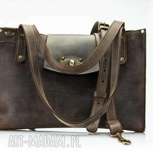 skórzana damska ręcznie wykonana torebka od ladybuq art, torba w stylu vintage