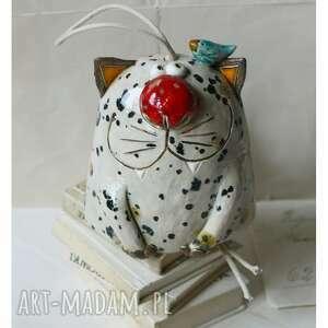 handmade ceramika dzwonekkot nakrapiany