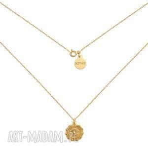handmade naszyjniki złoty naszyjnik z medalionem
