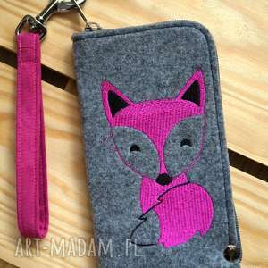 filcowe etui na telefon - lisek, smartfon, pokrowiec, futerał, fox, prezent