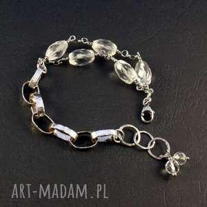 kryształ uniwersalny, kryształ-górski, srebro-oksydowane