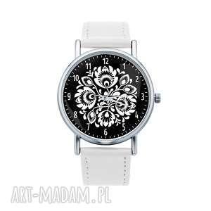 zegarki zegarek z grafiką folk kwiaty, etniczne, ludowe, grafika, prezent