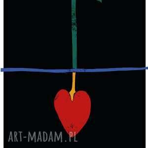 plakat a2 jesteś tym co myślisz, serce, miłość, podlewanie