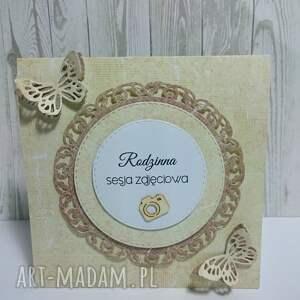 etui kremowo-motylkowe etui, cd, motyl, zaproszenie, święta prezent
