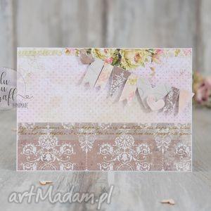 kartka ślubna z girlandą, kartka, ślub, życzenia, karnet, wesele, ślubna