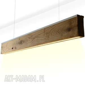 Lampa RIFT -Dąb- Dół- Listwa Srebrna Satyna - 3 sztuki , lampa, oprawa, sufitowa