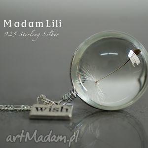 925 srebrny naszyjnik Dmuchawiec Życzenie , dmuchawiec, berlin, biżuteria, srebro