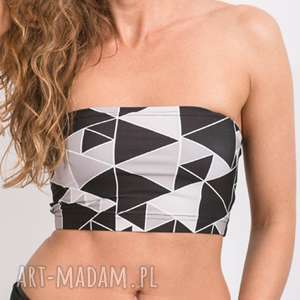 Triangle bandeau grey - top biustonosz sportowy opaska stanik tuba, top,