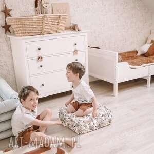 Pikowane welurowe siedzisko pokoik dziecka szyjatkowo pufa,