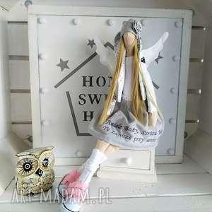 hand-made lalki anioł pamiątka chrztu stróż modlitwa
