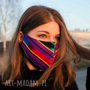 maseczki bawełniana kolorowa maseczka ochronna z nadukiem łowicz, maska