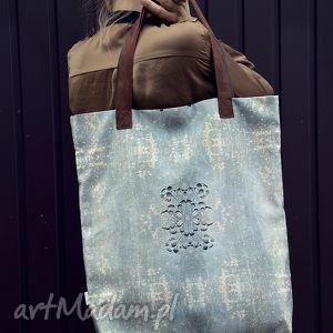 torba mr m ornament uszy skóra naturalna - torba, miejska, ornament, oryginalna