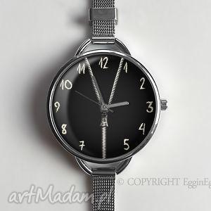 zasuwam - zegarek z dużą tarczką - 0923ws - graficzny, cyframi