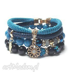 handmade bransoletki cobalt and navy blue vol. 2 /30.11.16/ set