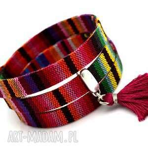 bransoletka joyee boho montezume, bransoletka, boho, aztecki, chwost, mulinowy