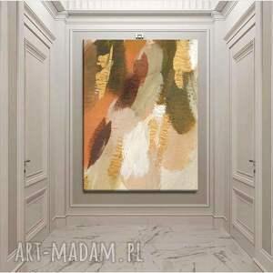 mild - obraz ręcznie malowany w pastelowych kolorach współczesne wzornictwo